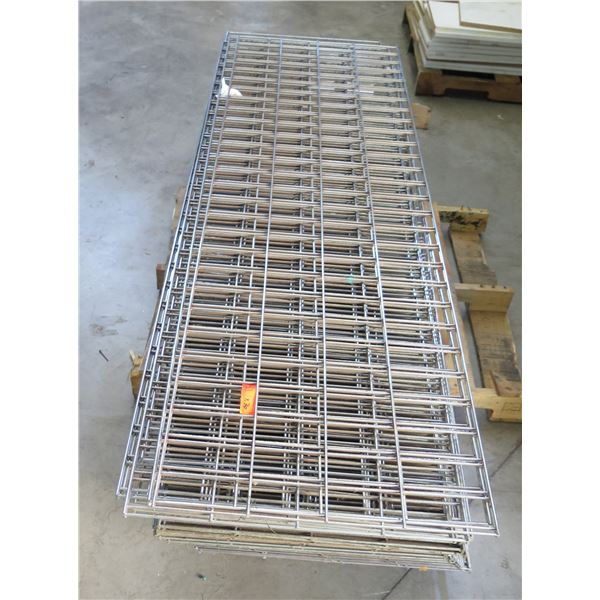 Qty 36 Expanded Metal Wire Framing or Mounted Racks