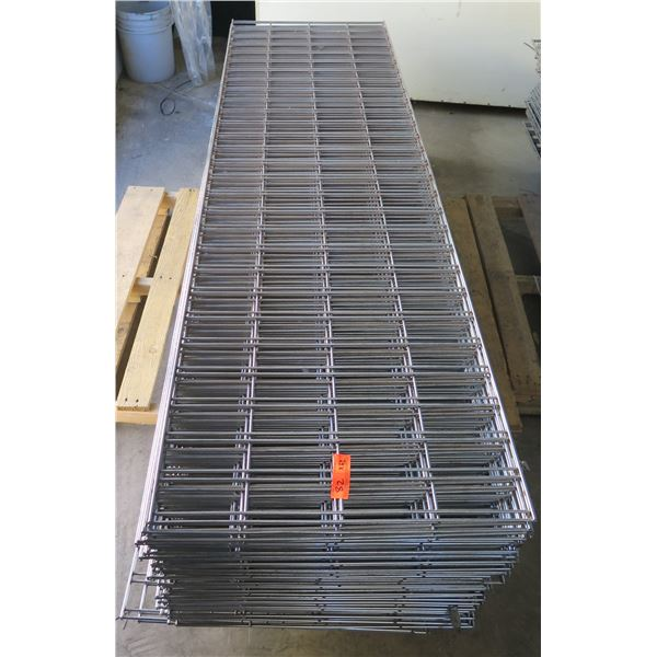 Qty 42 Expanded Metal Wire Framing or Mounted Racks