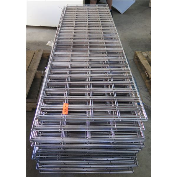 Qty 35 Expanded Metal Wire Framing or Mounted Racks