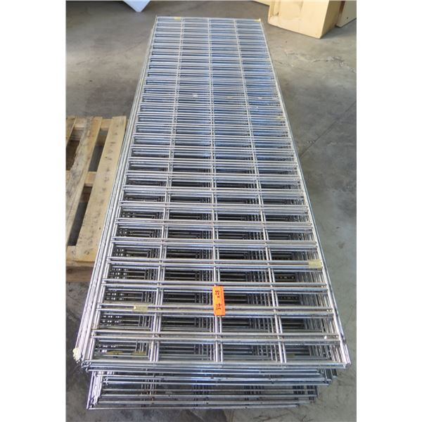 Qty 28 Expanded Metal Wire Framing or Mounted Racks
