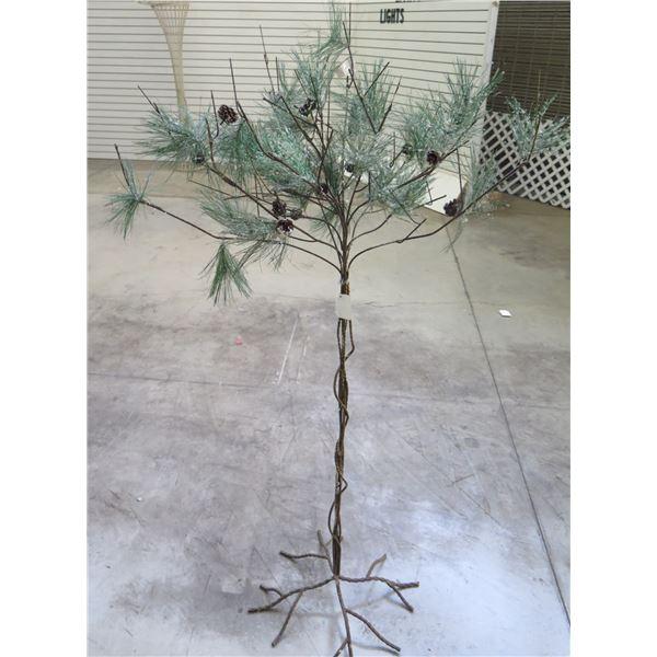 "Artificial Bare Twig Metal Pine Tree 74""H"