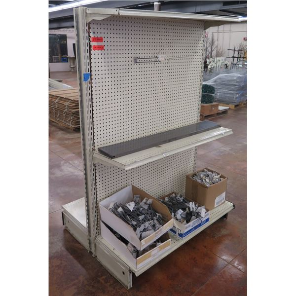 """Retail Display Shelving w/ Pegboard Paneling Hardware with 8 Pallets Shelving 50""""x 43"""" x 72""""Tall"""