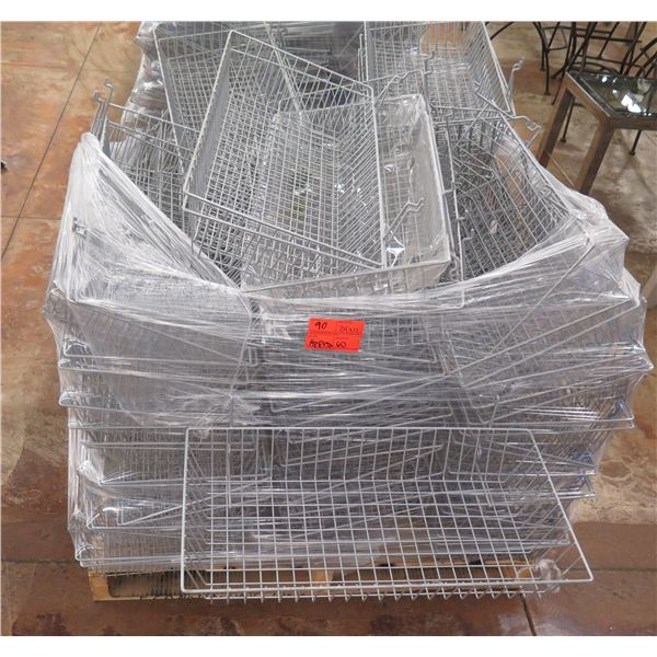 """Qty Approx. 60 Wire Stacking Storage Baskets 24""""x12"""""""