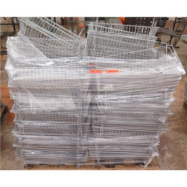 """Qty Approx. 70 Wire Stacking Storage Baskets 24""""x12"""""""