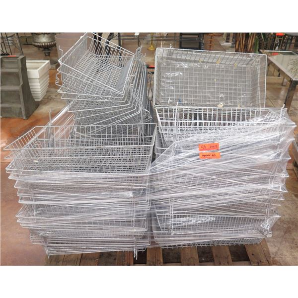"""Qty Approx. 40 Wire Stacking Storage Baskets 24""""x12"""""""