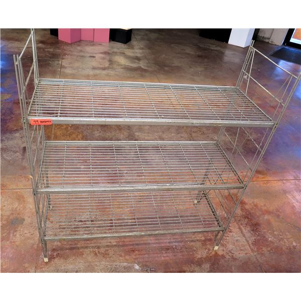 AMCO Metal Wire 3-Tier Shelving Unit