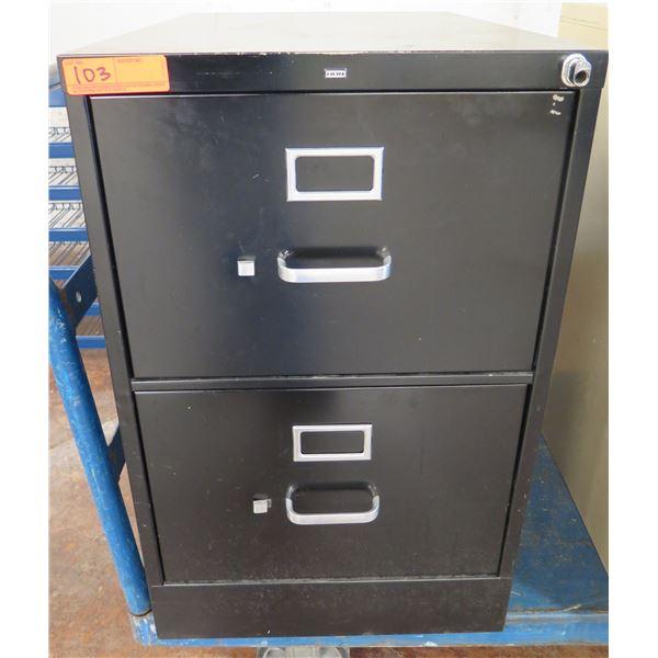 HON  Metal 2 Drawer File Cabinet