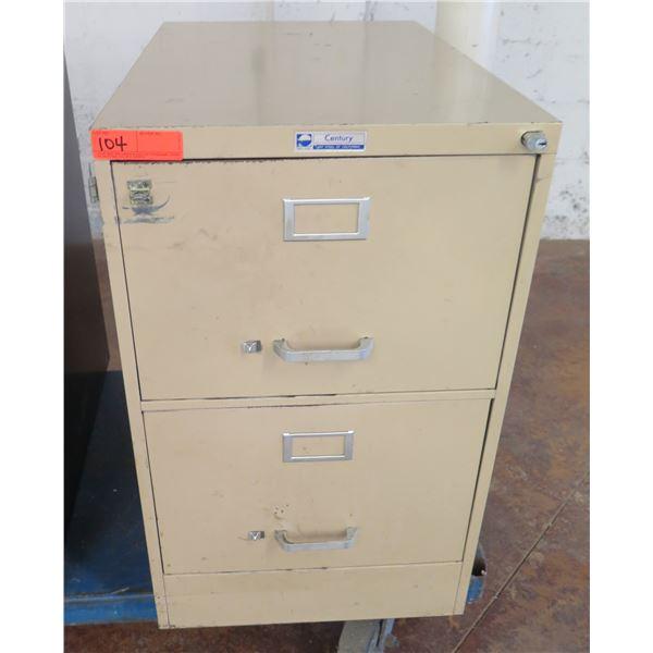 Steelmaster Century Metal 2 Drawer File Cabinet