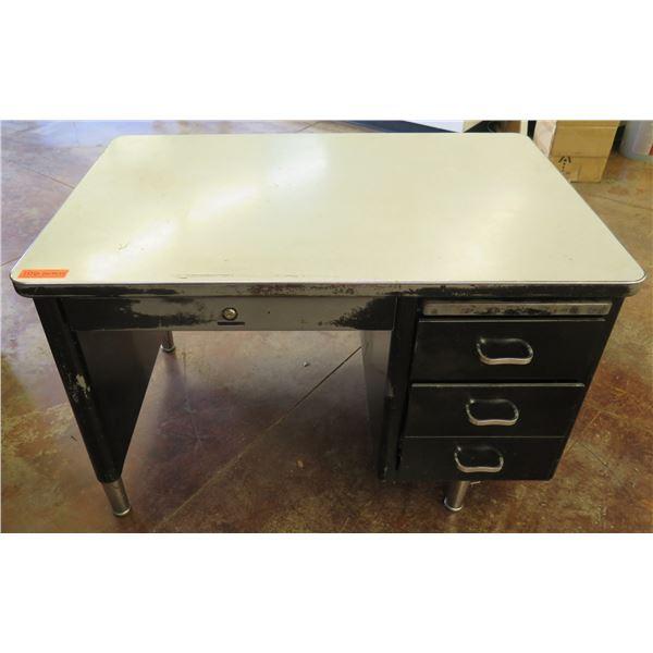 """Metal Shop Desk w/ 4 Drawers & Laminate Top 45""""x30""""x29"""""""