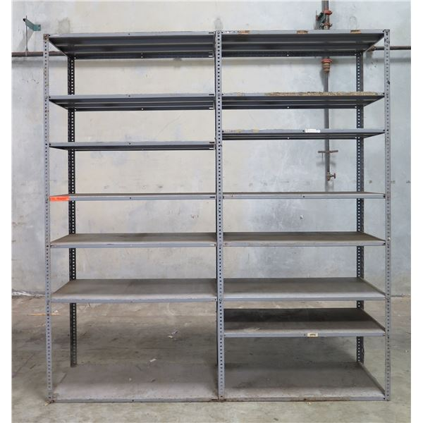 """Double Sided Adjustable Multi-Tier Metal Shelving Units 47""""x32""""x101"""""""