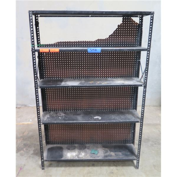 "Adjustable 4-Tier Metal Shelving Unit w/ Pegboard Back 47""x12""x71"""