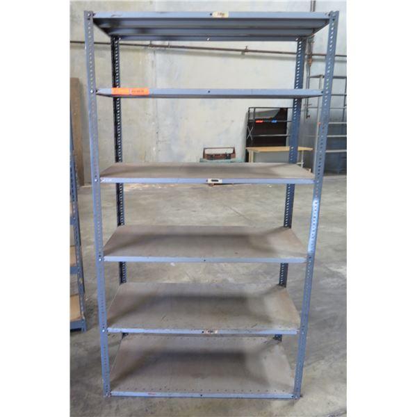 "Adjustable 5-Tier Metal Shelving Unit  47"" x 24"" x 84"" Tall"