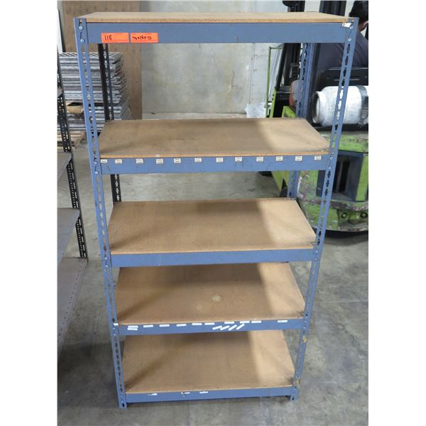 "Adjustable 5-Tier Metal Shelving Unit  36""x18""x76"""