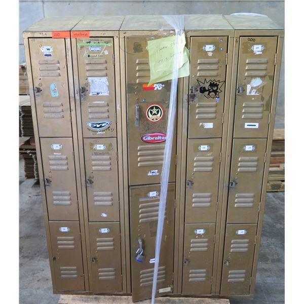 """Metal 14 Compartment Locker Unit 48""""x12""""x64"""""""