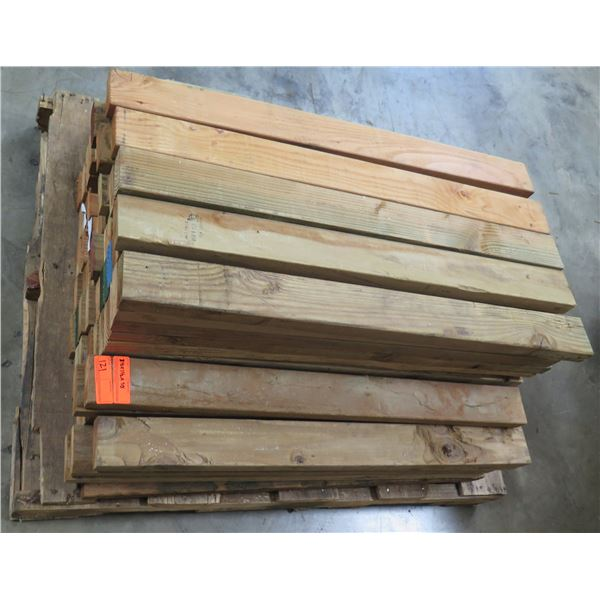 """Pallet of Multiple Dimensional Lumber 3.5""""W  x 1/2"""" x 38"""" Long"""