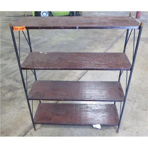 "Wood & Metal 3-Tier Shelving Unit 36"" x 12"" x 42""H"