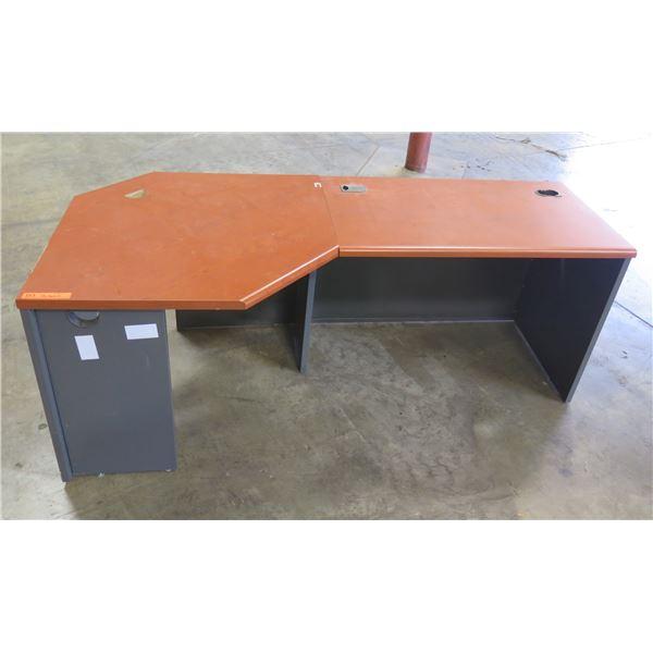"Modular 2-Section Desk 78"" x 38"" x 30""H"