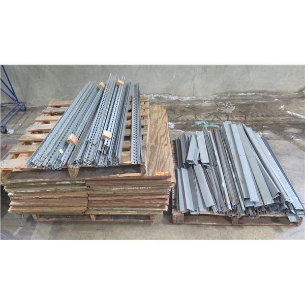 Qty Approx. 7 Metal & Wood Shelving Units Unassembled