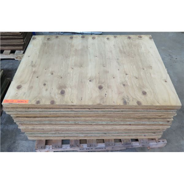 "Pallet 27 Plywood Sheets 48""L x 36"" W x 3/4"""