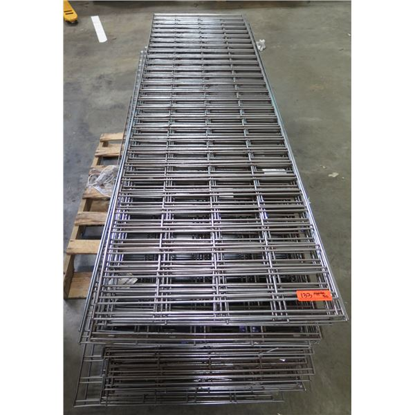 """Qty Approx. 50 Expanded Metal Wire Framing or Mounted Racks 87""""x24"""""""