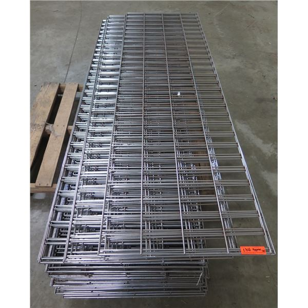 Qty Approx. 30 Expanded Metal Wire Framing or Mounted Racks