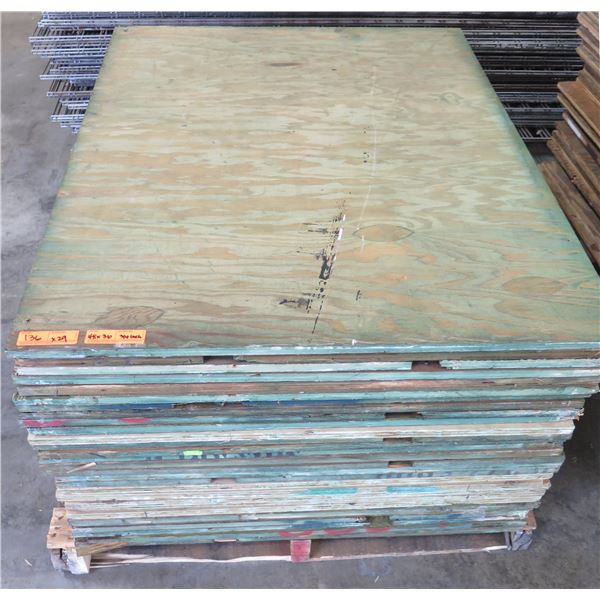 "Pallet 29 Plywood Sheets 48""L x 36"" W x 3/4"""