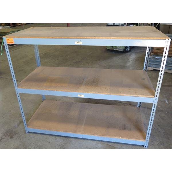 """Wood & Metal 2-Tier Shelf 69.5"""" x 30.5"""" x 57"""""""