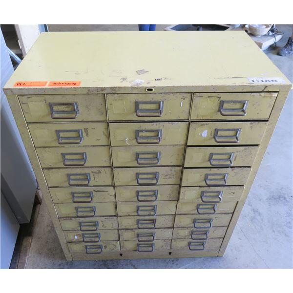 "Metal 27 Drawer Storage Cabinet 30.5""x17""x38"""