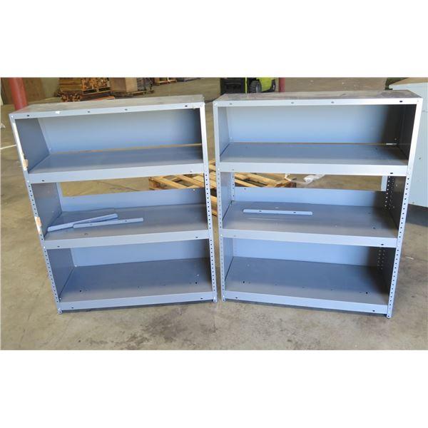 "Qty 2 Metal Adjustable Shelves 37""x16""x47"""