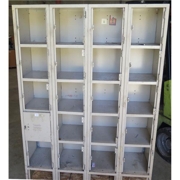 """Metal 24 Compartment Locker Unit  (no doors) 48""""x15""""x66"""""""