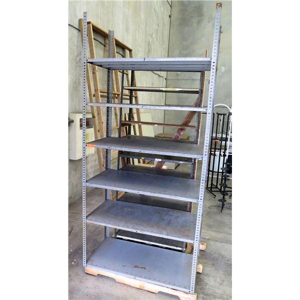 """Metal Adjustable 6 Tier Shelf 47""""x24""""x101"""""""