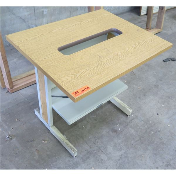 """Wood Printer Stand w/ Paper Feed Cut-Out 30""""x24""""x27"""""""