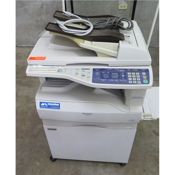 Sharp AR-M160 Digital Multi-Function Copier & Rolling Cabinet Stand