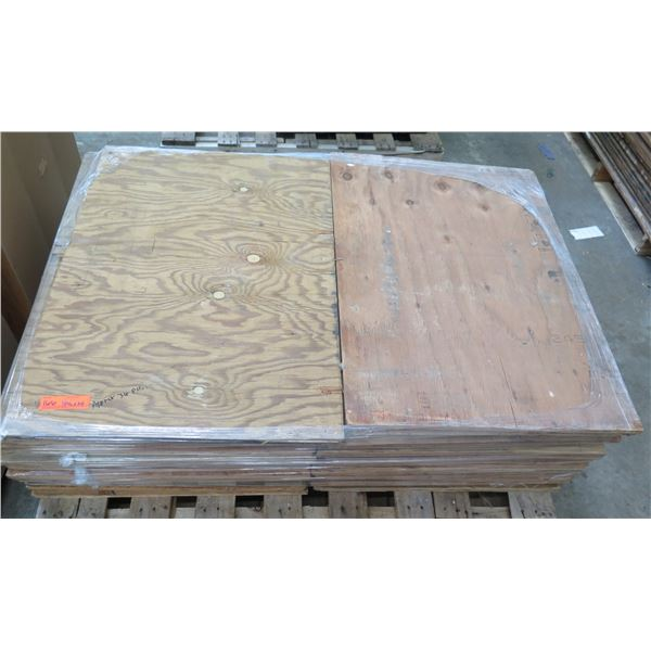 "Pallet Approx. 36 Plywood Sheets 34.5""L x 24"" W"