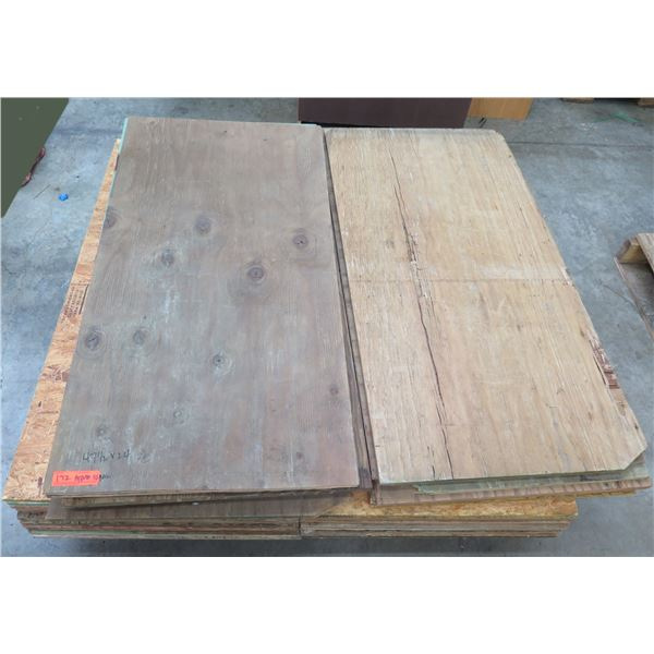 "Pallet Approx. 32 Plywood Sheets 47.5""L x 24"" W"