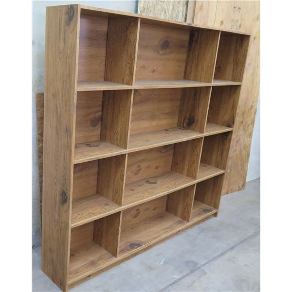 "Large Tall 9-Section Wall Shelving Unit 72""W x 12""D x 78"" Tall"