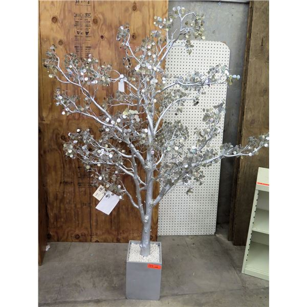 "Tall Artificial SilveryTwig Tree in Square Planter (Reg $759 Sale $499) 72"" Tall"