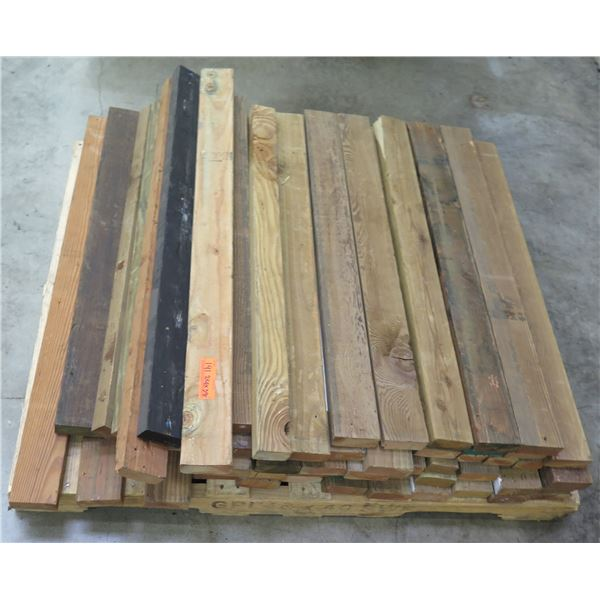 "Pallet of Multiple Dimensional Lumber 2"" x 4"" x 38"" Long"