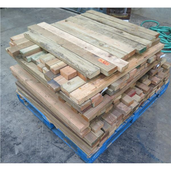 "Pallet of Multiple Dimensional Lumber 2"" x 38"" Long & 3"",  4"" Mixed"