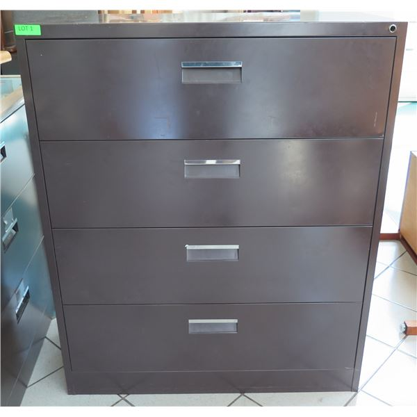 """Mosler Harbor Metal 4 Drawer Lateral Legal File Cabinet 41""""x19""""x50""""H"""