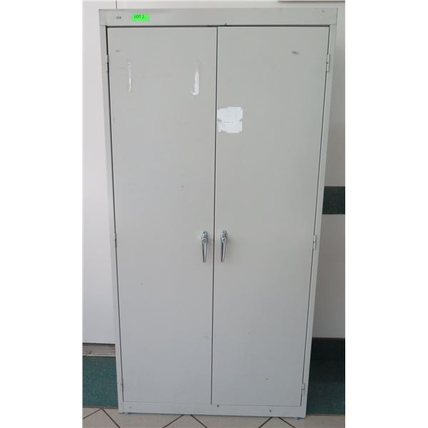 "HON Metal 2 Door Locking Cabinet w/ 4 Shelves Inside 35""x18""x72""H"