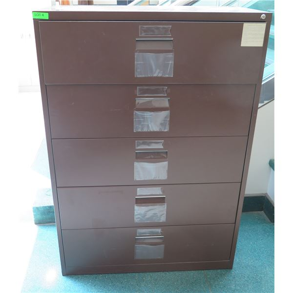 """Harbor Universal Metal 5 Drawer Lateral Legal File Cabinet 41""""x19""""x60""""H"""