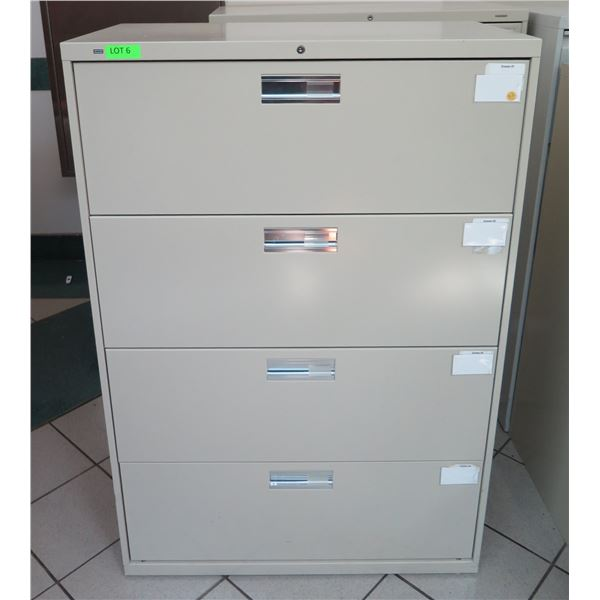 """Metal 4 Drawer Lateral Legal File Cabinet 36""""x19""""x53""""H"""