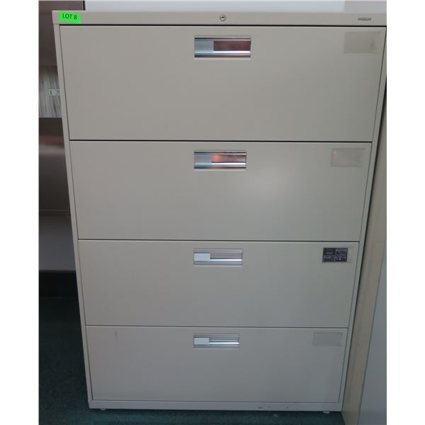 """HON Metal 4 Drawer Lateral Legal File Cabinet 36""""x19""""x53""""H"""