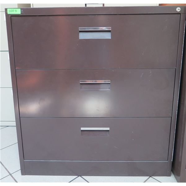 """Harbor Universal Metal 3 Drawer Lateral Legal File Cabinet 36""""x19""""x39""""H"""