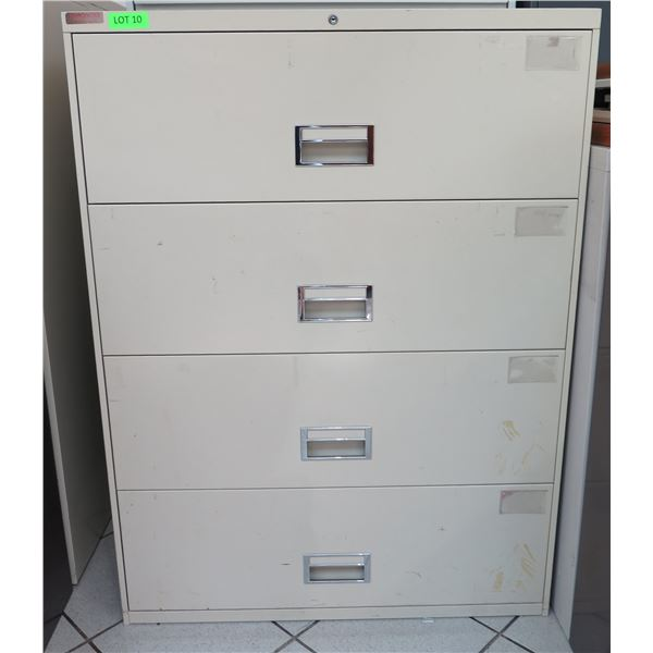Beige Metal 4 Drawer Lateral Legal File Cabinet