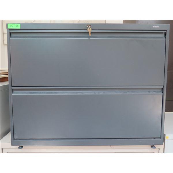 HON Metal 2 Drawer Lateral Legal File Cabinet w/ Key
