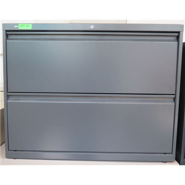 HON Metal 2 Drawer Lateral Legal File Cabinet