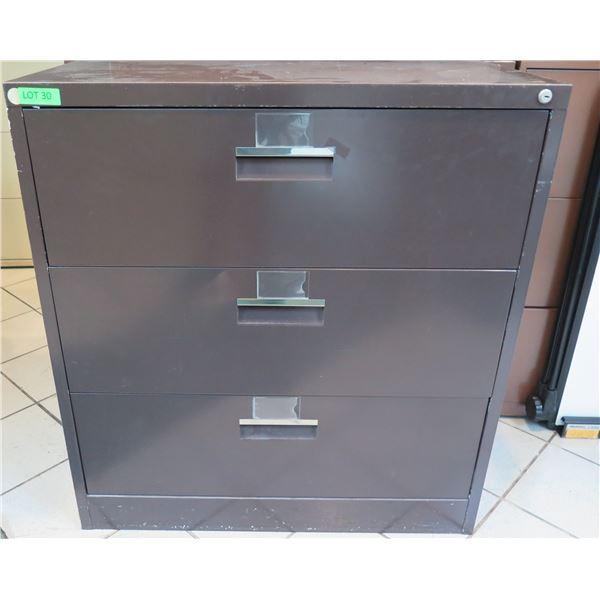 Mosler Harbor Brown Metal 3 Drawer Lateral Legal File Cabinet