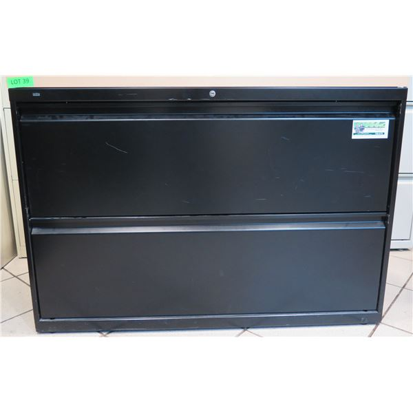 """HON Metal 2 Drawer Lateral Legal File Cabinet 42""""x20""""x30"""""""